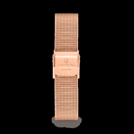 רצועת רשת לשעון בצבע רוז גולד
