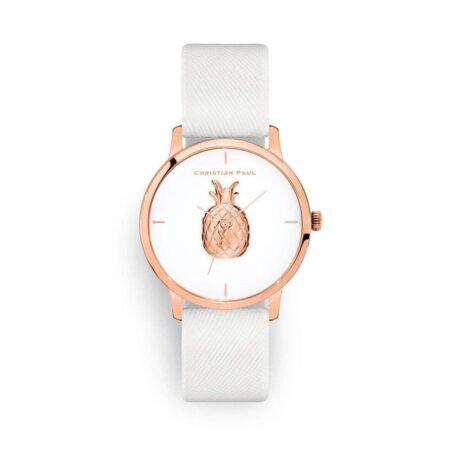 שעון לנשים אופל עם רקע אננס