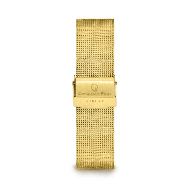 """רצועת רשת לשעון בצבע זהב 16מ""""מ"""
